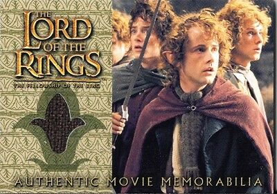 LOTR FOTR Fellowship of the Rings Costume Relic Card: Pippin's Travel Cloak