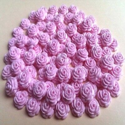 100 Edible Sugar Tiny Roses Pink Cake Cupcake Toppers Decorations