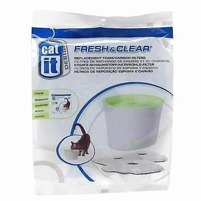 Catit Fresh & Clear Replacement Foam Carbon Filters (2 Pack) For Fountain