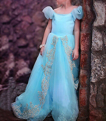 Princess Cinderella Cosplay Costume Kids Girls Party Fancy Pageant Gown Dress