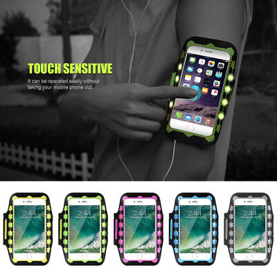 Armband Case Sport GYM Running LED Glow Arm Band For iPhone 8 Plus/7 Plus/6 Plus