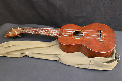 Vintage C. F. Martin & Co Soprano  Ukulele Nice With Canvass Case