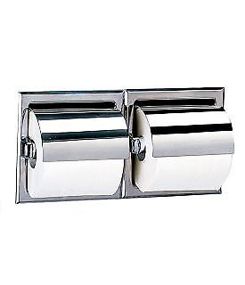 A8866 Recessed Stainless Steel Double Toilet Roll Holder, Exposed Surface Polish