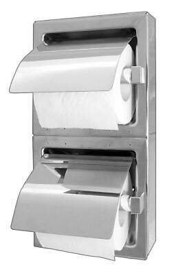 A8868 Surface Mounted Stainless Steel Double Toilet Roll Holder, Exposed Surface