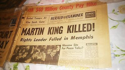 Martin Luther King Jr Assassination Murder; Lot-19 Items, Moving Black History!