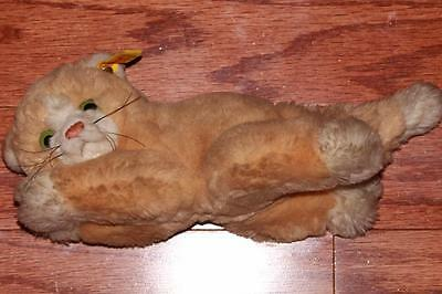 VINTAGE 80s STEIFF FLOPPY CAT LYING STUFFED DOLL PLUSH KITTY TOY GERMANY 5620/18