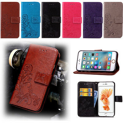 Magnetic Leather Wallet Flip Stand Case Cover For Mobile Phones iPhone Samsung