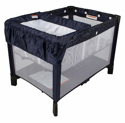 NEW Childcare Trio 3 In 1 Baby Portable Travel Cot Portacot Navy #`074260-357