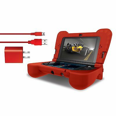 dreamGEAR New Nintendo 3DS XL Comfort Grip Case - Power Play Kit - Red