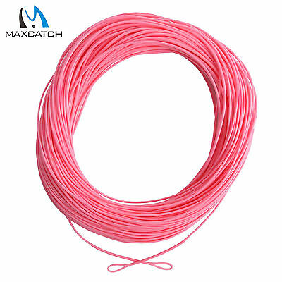Maxcatch WF5F 100FT Floating Weight Forward Fly Fishing Line Pink With 2 Loops