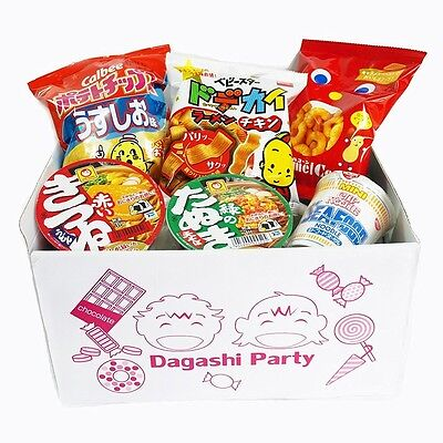 Assorted Japanese Gift 3 Snack Food Bags and 3 Mini Cup Noodles Box SET