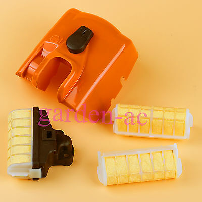 1123 140 1902 Air Filter Cover & fuel filter fit STIHL 021 023 025 MS210 230 250