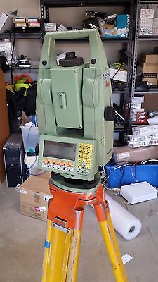 """Leica Tca1103 5"""" Robotic Total Station For Surveying With Tripod"""