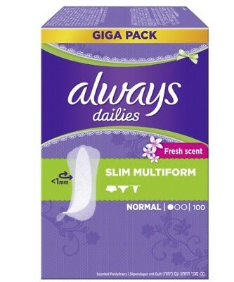 always Slipeinlage mit Duft Slim Multiform Fresh Gigapack 100 Stück Pantyliner