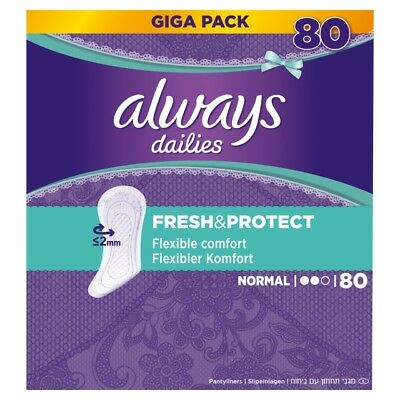 320 Stück always Slipeinlage Fresh&Protect Normal Gigapack 80er Pack x 4 neu/OVP