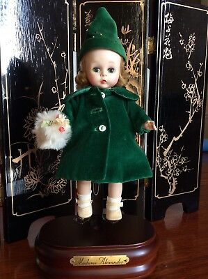 Vintage 1954 Madame Alexarder Doll Wearing A Slip And Velvet Coat# 625 Slw