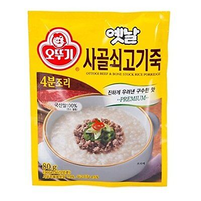 [KFM] Korean Food Instant Beef Bone Stock Rice Porridge 80g
