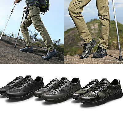 Mens Outdoor Sport Hiking Shoes Hunting Camping Climbing Camo Low Top Shoes