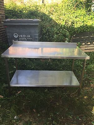 Commercial Stainless Steel Catering Prep Table With Back Lip: T11