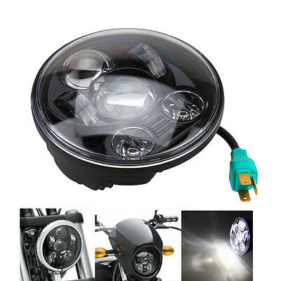 "5-3/4"" Round Projector LED Headlight Light For Harley Dyna Softail Sportster XL"