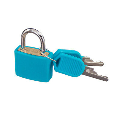 Small Padlock with Two Keys for Luggage Suitcase Bag Security Locks Travel ACCS