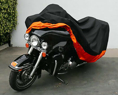 XXXL 180T Motorcycle Cover Against Rain/Snow/Dust Sun UV Ray for Harley Davidson