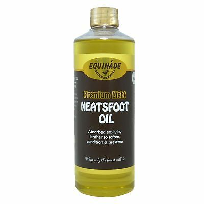 Equinade Premium Light Neatsfoot Oil 500Ml Restore and Protect Leather