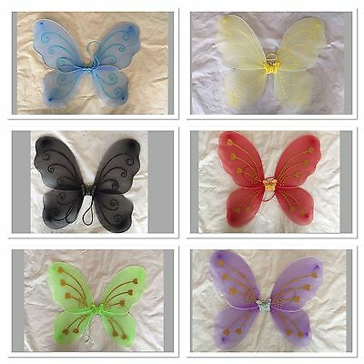 Butterfly Fairy Angel Wings  Costume Dance Party Pink blue red black Purple