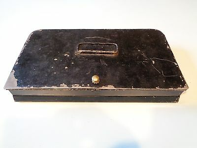 Vintage Metal Cash Box,top Handle Black