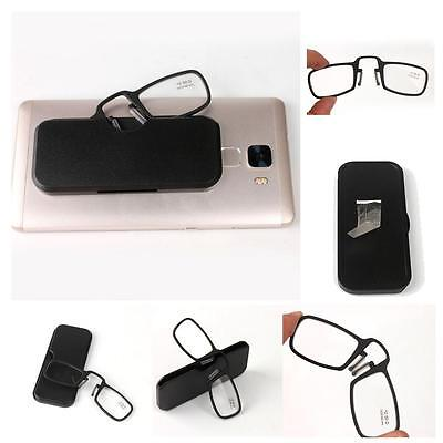 New Mini Nose Clip Magnetic Reading Glasses with Case 1.0 1.5 2.0 2.5 3.0 3.5