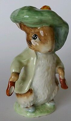 Rare Beswick 'BENJAMIN BUNNY' Gold Oval Backstamp. BP-2a Beatrix Potter