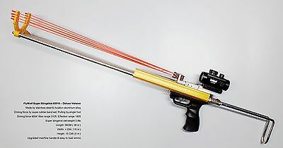 FlyWolf Super Slingshot Rifle Driving force by Rubber Band Set - Deluxe Version