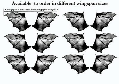 Ooak Bat wings  Gothic A4 transparency sheet