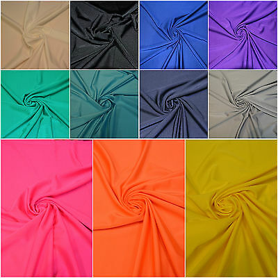 Lycra Fabric - 4 Way Stretch Spandex Material- Width 150 Cm - 19 Colours