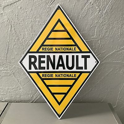 Renault Metal Sign Vintage Garage Car