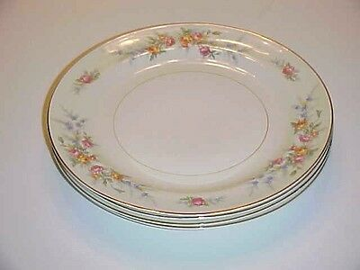 Homer Laughlin China Eggshell Nautilus Ferndale  N1577 Bread Butter Plate Set