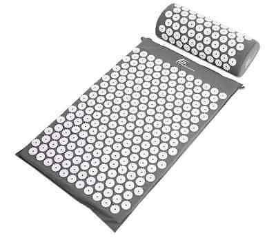 ProSource Acupressure Mat and Pillow Set for Back/Neck Pain Relief and Muscle Re