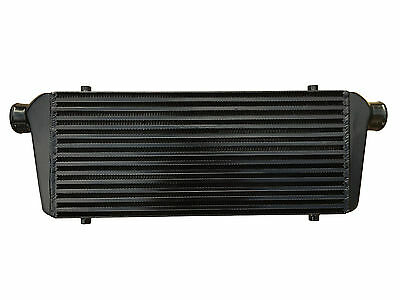 "Black universal front mount intercooler 550mm x 230mm x 65mm 2.25"" 57mm"