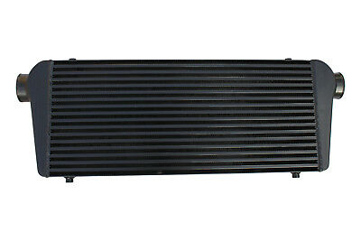 "Black universal front mount intercooler 550mm x 230mm x 65mm 2"" 51mm"