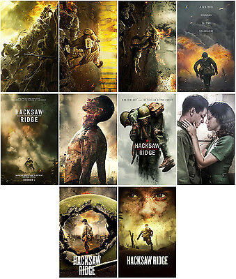 10pc Hacksaw Ridge (2016) Movie Promo Cards Photo Card Collector Stickers A