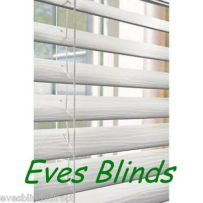 Made to measure Faux wood white Plastic venetian blinds 35mm or 50mm Slats