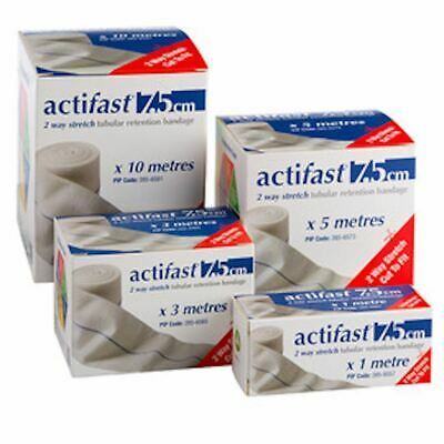 Activa Actifast 2 Way Stretch Tubular Retention Bandage (7.5cm x 3m, Blue)