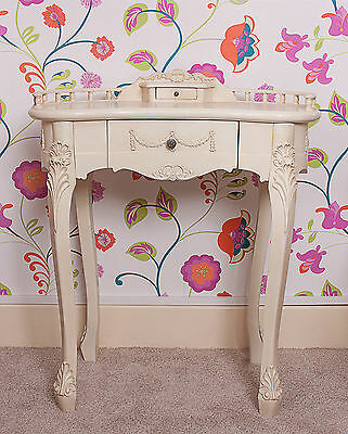 Dressing Table French White 1 Drawer Shabby Chic Console Desk Cream
