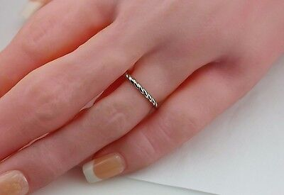 Platinum twist rope eternity 1.75mm stackable wedding band band ring sz 4.5 new