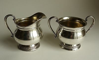 International STERLING Silver Creamer and Sugar PRELUDE C147