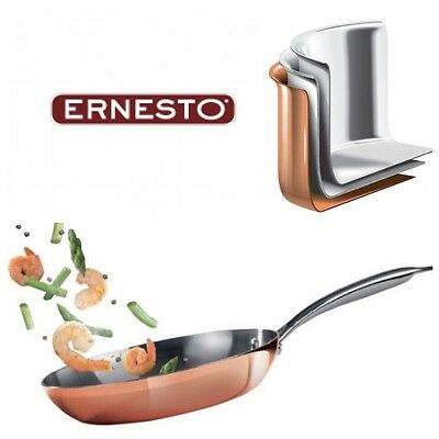 New Copper Frying Pan,28cm,professional 3-layer Structure.'Ernesto'