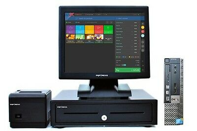 """17"""" Touchscreen EPOS POS Cash Register Till System for Dry Cleaners"""
