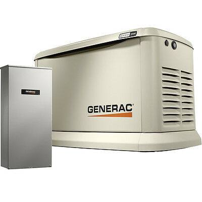 22KW Guardian Standby Generator w/ 200a 3R Auto Transfer Switch Generac 7043 New