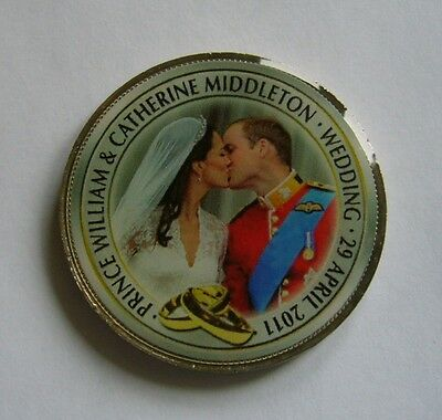 Great Britain Enamelled coin, Wedding of Prince William & Catherine Middleton