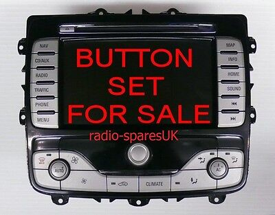 Button Covers (Full Set) For Ford Mondeo Kuga Focus S-Max Galaxy Sat/navigation